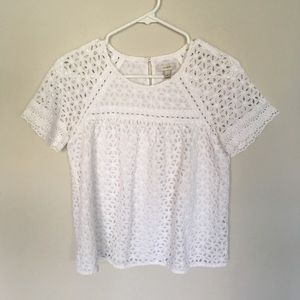 J. Crew cotton layered blouse